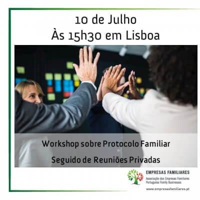 Protocolo Familiar - Workshop + Reuniões Privadas