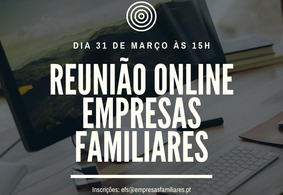 Reunião Online – Empresas Familiares